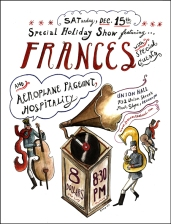 Concert poster for New York-based indie pop band Frances.